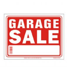 120 Units of Sign 12in by 16in Garage Sale - SIGNS