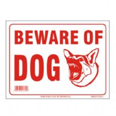 120 Units of Sign 12in by 16in Beware of Dog - Signs & Flags
