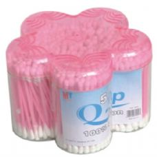 120 Units of Cotton Swab Plastic Container 500CT - Cotton Balls & Swabs