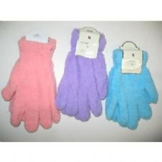 144 Units of Ladies Fuzzy Gloves - Fuzzy Gloves