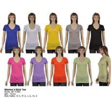 72 Units of Womans Slub T Shirt - Womens Fashion Tops