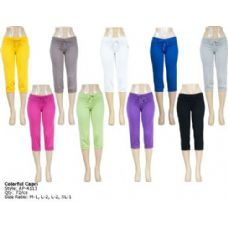 72 Units of Womens Colorful Capri - Womens Capri Pants