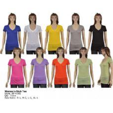 72 Units of Womens Slub Tee - Womens Fashion Tops