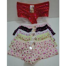 144 Units of Ladies Panties--Metallic Hearts - Womens Panties / Underwear