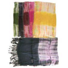 60 Units of Light Scarf tie dye - Womens Fashion Scarves