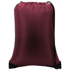 "60 Units of Value Drawstring Backpack - Maroon - Backpacks 15"" or Less"