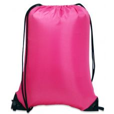 "60 Units of Value Drawstring Backpack-Hot Pink - Backpacks 15"" or Less"