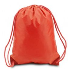 "60 Units of Drawstring Backpack - Orange - Backpacks 15"" or Less"