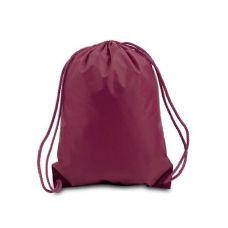 "60 Units of Drawstring Backpack - Maroon - Backpacks 17"""