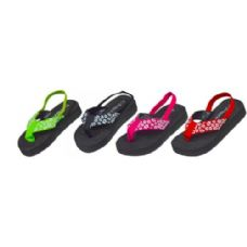 48 Units of Gilrs Floral Strap Sandal - Girls Sandals