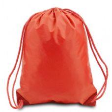 "60 Units of Drawstring Backpack - Orange - Backpacks 17"""