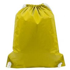 "48 Units of White Drawstring Backpack-Bright Yellow - Backpacks 15"" or Less"
