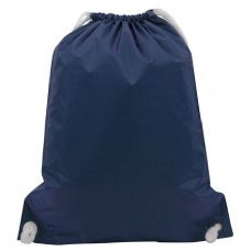 "48 Units of White Drawstring Backpack-Navy - Backpacks 15"" or Less"