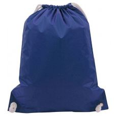 "48 Units of White Drawstring Backpack-Royal - Backpacks 15"" or Less"