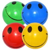 48 Units of Dodge Ball 9in Happy Face - Summer Toys