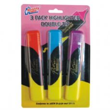 96 Units of Highlighter two head 3PC (48/CS)