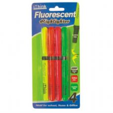 72 Units of Highlighter 4PK Assorted Colors - Markers and Highlighters