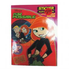 72 Units of Disney Kim Possible Activity Book w/Stickers - Coloring & Activity Books