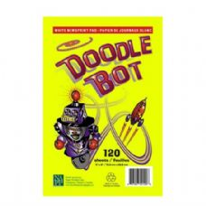 72 Units of Doodle Bot Drawing Pad 6x9 120SH - Coloring & Activity Books