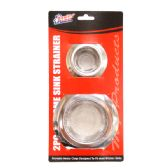 72 Units of 2 Pack Chrome Sink Strainer - Strainers & Funnels