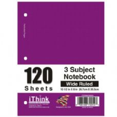 48 Units of Spiral Notebook 3 Subject Wide Rule - Notebooks