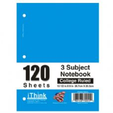 48 Units of Spiral Notebook 3 Subject College Rule - Notebooks