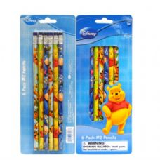 48 Units of Pencil #2 6PK Pooh - Licensed School Supplies