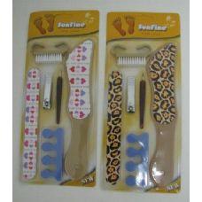 144 Units of 6pc Printed Pedicure Set - Manicure / Pedicure Items