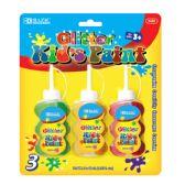 72 Units of BAZIC 40ml Glitter Paint (3/Pack) - Paint/Paint Brushes/Finger Paint