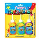72 Units of BAZIC 40ml Neon Color Paint (3/Pack) - Paint/Paint Brushes/Finger Paint