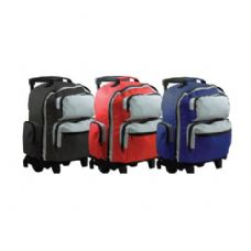 "6 Units of 18"" Two-Tone Rolling Backpack - Backpacks 18"" or Larger"