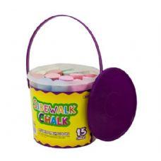 48 Units of BAZIC Jumbo Color Chalks (15/Bucket) - CHALK,CHALKBOARDS,CRAYONS