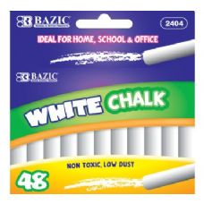 72 Units of BAZIC White Chalk (48/Box) - Chalk,Chalkboards,Crayons