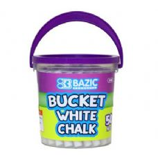 72 Units of BAZIC White Chalk (50/Bucket) - Chalk,Chalkboards,Crayons