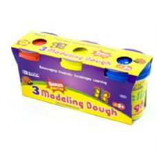 24 Units of Multi Color Modeling Dough 3 Pack - Clay & Play Dough