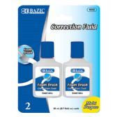 144 Units of BAZIC 20ml / 0.7 fl. oz. Correction Fluid w/ Foam Brush (2/Pk) - Correction Items