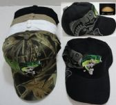 36 Units of Fish Hat with Shadow [Bass on Back] - Baseball Caps & Snap Backs
