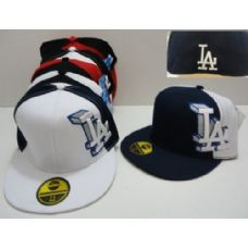 72 Units of  Fitted Hat-3D LA - Baseball Caps & Snap Backs