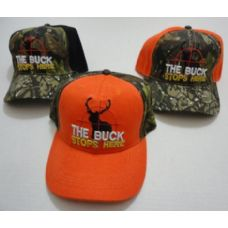 24 Units of THE BUCK STOPS HERE Hat - Hunting Caps