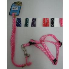 "36 Units of 48"" Small Dog Harness with Bell - Pet Collars and Leashes"