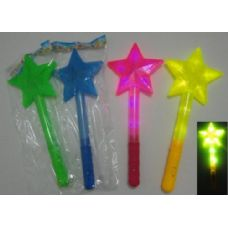 "30 Units of 15"" Wand with Large Star - Light Up Toys"