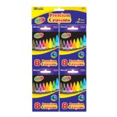 72 Units of BAZIC 8 Color Premium Quality Crayon (4/Pack) - Chalk,Chalkboards,Crayons