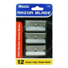 360 Units of BAZIC Razor Replacement Blade (12/Pack) - Knives/Cutters/Blades
