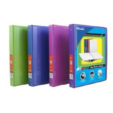 "48 Units of BAZIC 1/2"" Bright Color 3-Ring View Binder w/ 2-Pockets - Clipboards and Binders"