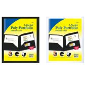 48 Units of BAZIC 2-Pockets Poly Portfolio w/ View Cover - Clipboards and Binders