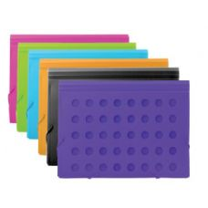 12 Units of BAZIC Dot Series Letter Size Document Case - Folders and Report Covers