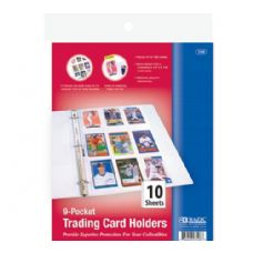 144 Units of BAZIC Top Loading 9-Pockets Sports Card Holder (10/Pack) - Folders and Report Covers