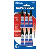 144 Units of BAZIC 3g / 0.10 Oz. Super Glue (6/Pack) - Glue Office and School