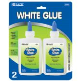 72 Units of BAZIC 4 Oz. (118mL) White Glue (2/Pack) - Glue Office and School