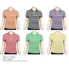 96 Units of Stripe Polo Shirt - Womens Fashion Tops